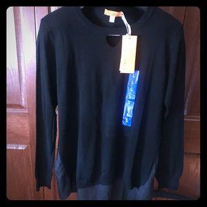 NWT - Black keyhole sweater by One A